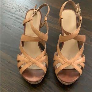 Kelly & Katie Nude Wedge Sandals